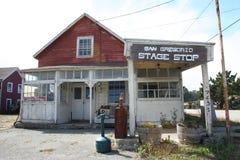 Pensão abandonada do treinador da fase, San Gregorio, CA Imagem de Stock