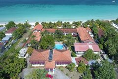 Pensão Negril Jamaica de Charela do recurso fotografia de stock royalty free