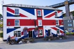 A pensão Saltash Cornualha Inglaterra Reino Unido da união Foto de Stock Royalty Free