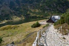 Pensão Samotnia da montanha em montanhas de Karkonosze Foto de Stock