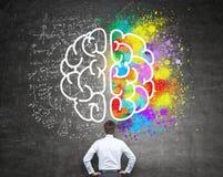 Pensée analytique et créative illustration libre de droits