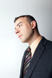 Pensée contemplative d'homme d'affaires Photo stock