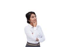 Pensée de femme d'affaires Photo libre de droits