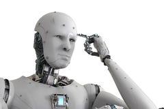 Pensée de robot d'Android illustration libre de droits