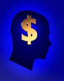 Pensées au sujet d'argent illustration stock