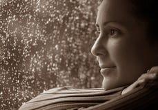 Pensées de jour pluvieux Photos libres de droits