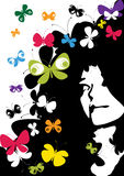 Pensées des guindineaux de couleur Photo libre de droits