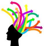 Pensées et options illustration libre de droits