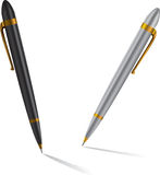 Pens. Vector pens illustration. Silver and black Royalty Free Stock Photography