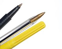 Pens. Isolated shot of some pens stock photography