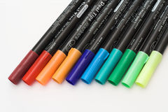 Pens. Coloured pens used in crafts Royalty Free Stock Photography