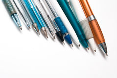 Pens. On the white background Royalty Free Stock Photo
