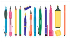 Free Pens And Pencils Set Stock Image - 196459581