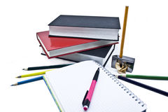 Pens and books royalty free stock images