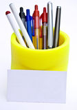 Pens card. Set of pens card isolated on a white background Royalty Free Stock Image
