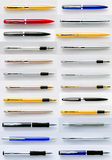 Pens collection isolated on white. Pens collection isolated on white Royalty Free Stock Photography
