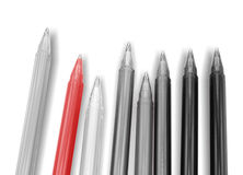Pens collection isolated on white. Color Stock Photos