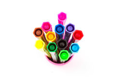 Pens Color Isolate on white Royalty Free Stock Image
