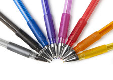Pens in colors Stock Photo