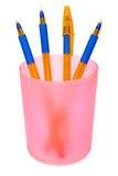 Pens in container Royalty Free Stock Images
