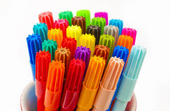 Pens in a container Stock Photo