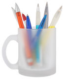 Pens in a cup Royalty Free Stock Photo