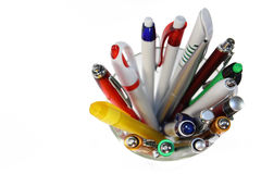 Pens in Glass stock photography