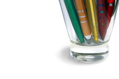 A Pens in Glass Royalty Free Stock Photography
