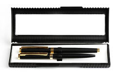 Pens In Case Stock Photo