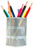Pens In The Pen Holder Royalty Free Stock Photos