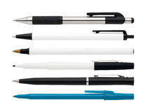 Pens and a marker Stock Photo