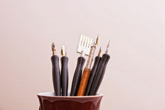 Pens in mug Royalty Free Stock Photography