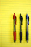 Pens on Note Pad Stock Images