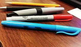 Pens of the office life Stock Photography