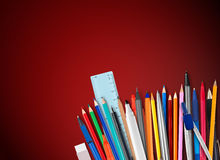 Pens and pencils Royalty Free Stock Image