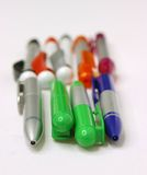 Pens, pin, pins, school, secretary Royalty Free Stock Image