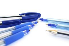 Pens on white Royalty Free Stock Images