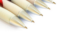 Pens on white Stock Photos