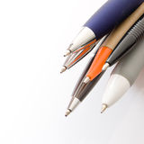 Pens on white background Royalty Free Stock Photos