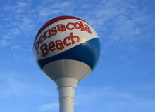 Pensacola海滩球 免版税库存照片
