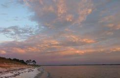 Pensacola Bay at Sunrise. Pensacola Bay as the Sun Rises Royalty Free Stock Photo