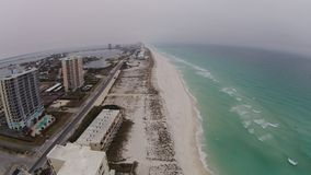 Pensacola Beach. Drone shot of Pensacola Beach and Fort Pickens Royalty Free Stock Photo