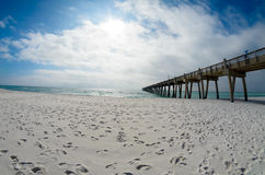 Pensacola Beach Fishing Pier Stock Image