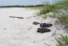 Pensacola Beach, Florida, USA. Pensacola white sand beach in Florida (USA).  Sand dunes and foliage along beach with  local saltgrass vegatation. Gulf of Mexico Stock Photo