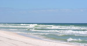 Pensacola Beach. Sand and waves from the Gulf of Mexico Stock Photography