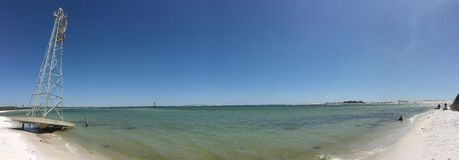 Pensacola NAB Panorama. A beach at the Pensacola Naval Air Base in Florida