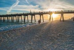 Pensacola pir Fotografering för Bildbyråer