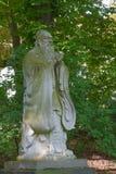 Pensador chino Confucio de la escultura Imagen de archivo