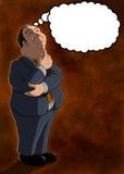 Pensador com bolha Foto de Stock