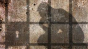 Pensador en cárcel Foto de archivo libre de regalías
